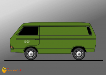 FE0234 VW TRANSPORTER T3 ARMY
