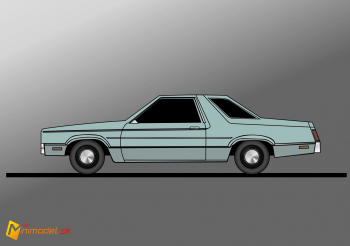 FE2887 FORD FAIRMONT COUPE