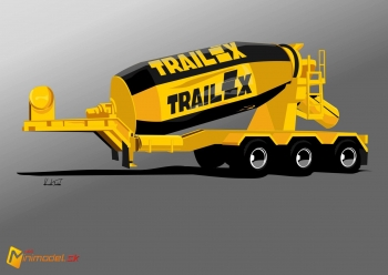 FE2998 TRAILEX CONCRETE MIXER